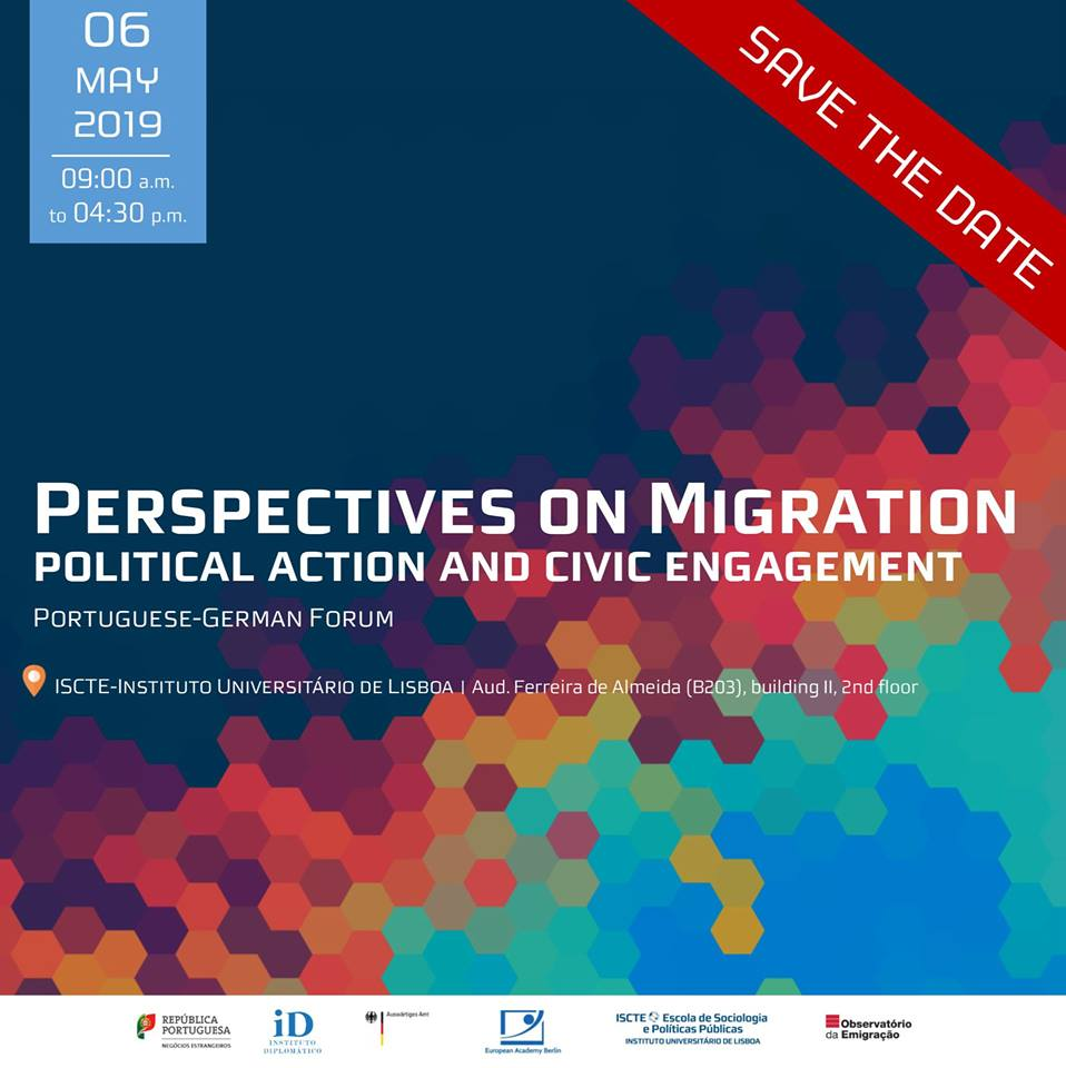 Conferência internacional Perspectives on Migration: political action and civic engagement